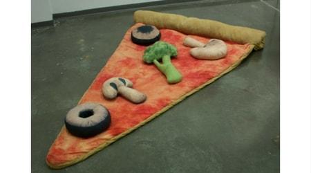 saco de dormir de pizza