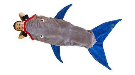 saco de dormir de niño tiburon