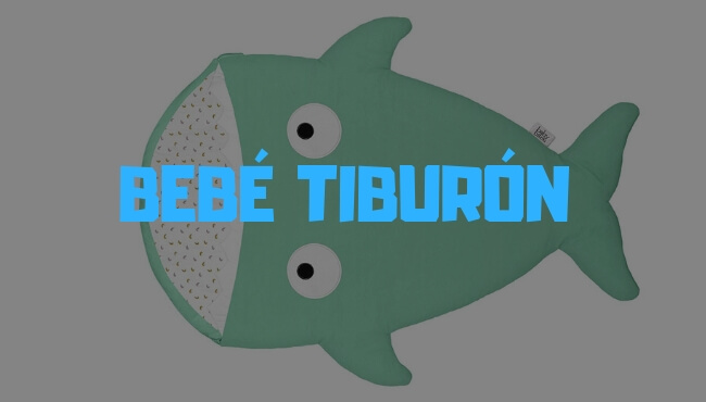 saco bebe tiburon